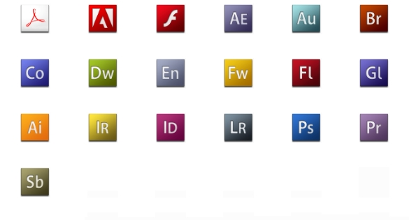 Icones logos de Adobe CS3