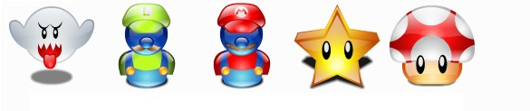 Icones Super mario Bros