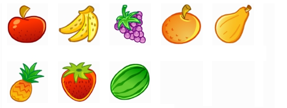 Icones de fruits